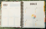 My favorite part! A page breaking down your goals by category and time frame.